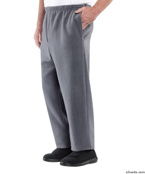 Men's open side pants by Silvert's Adaptive Clothing & Footwear