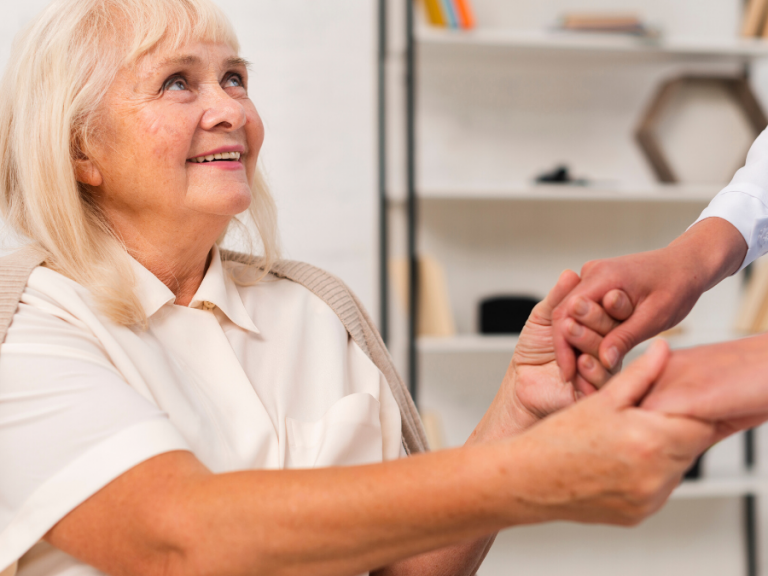 Caregivers with Alzheimer's patients